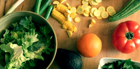 salade week-end dans mon assiette vegan