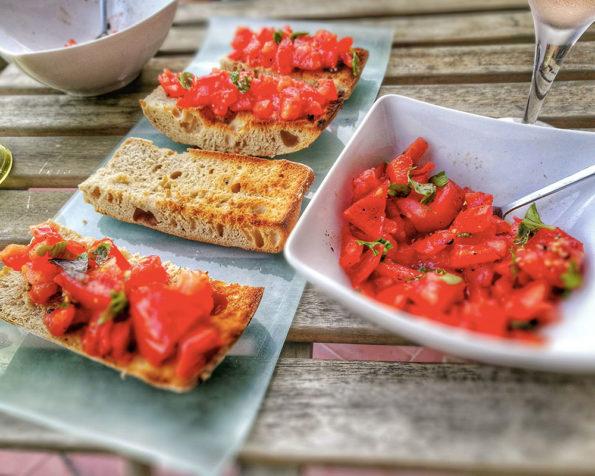 bruschetta tomates vegan
