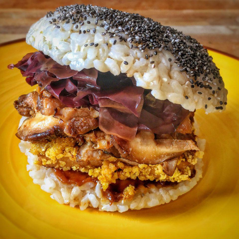 Rice burger vegan