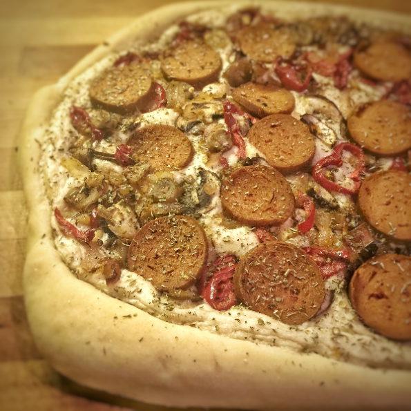 arrêter la viande pizza chorizo
