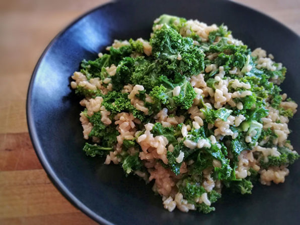 risotto chou kale