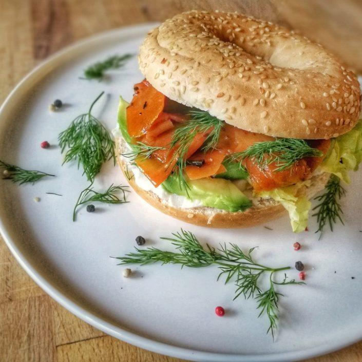 bagel saumon fumé vegan