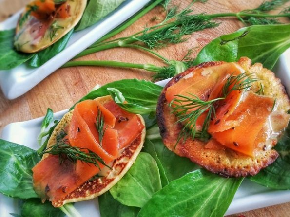 blini saumon fumé vegan