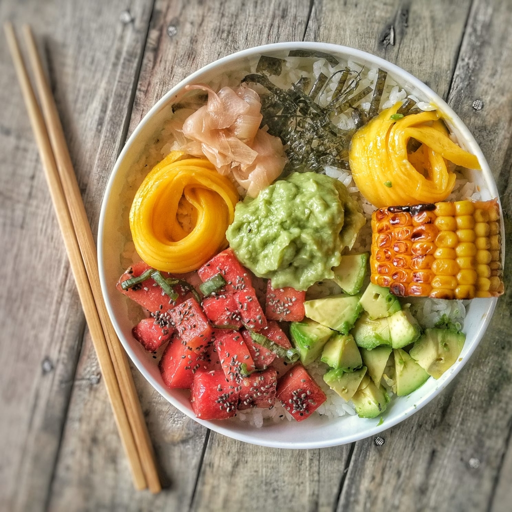 poke bowl vegan