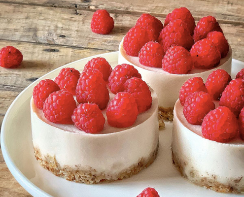 cheesecake vegan citron framboise