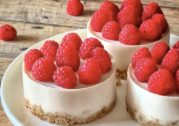 cheesecake vegan citron framboise