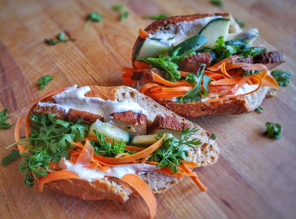 sandwich bahn mi vegan