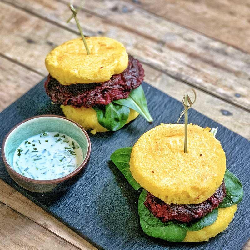 burger polenta