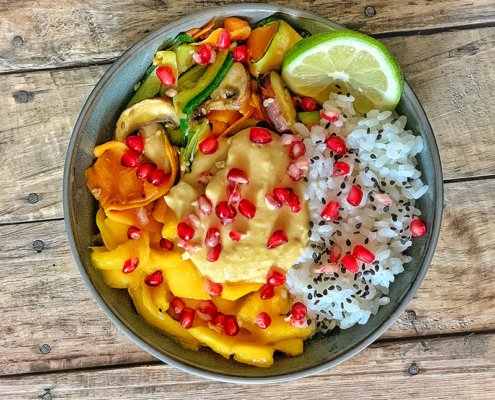 vegan mango bowl