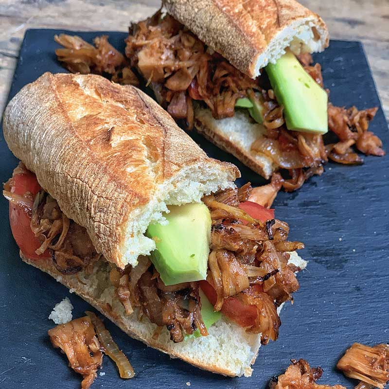 sandwich pulled pork vegan