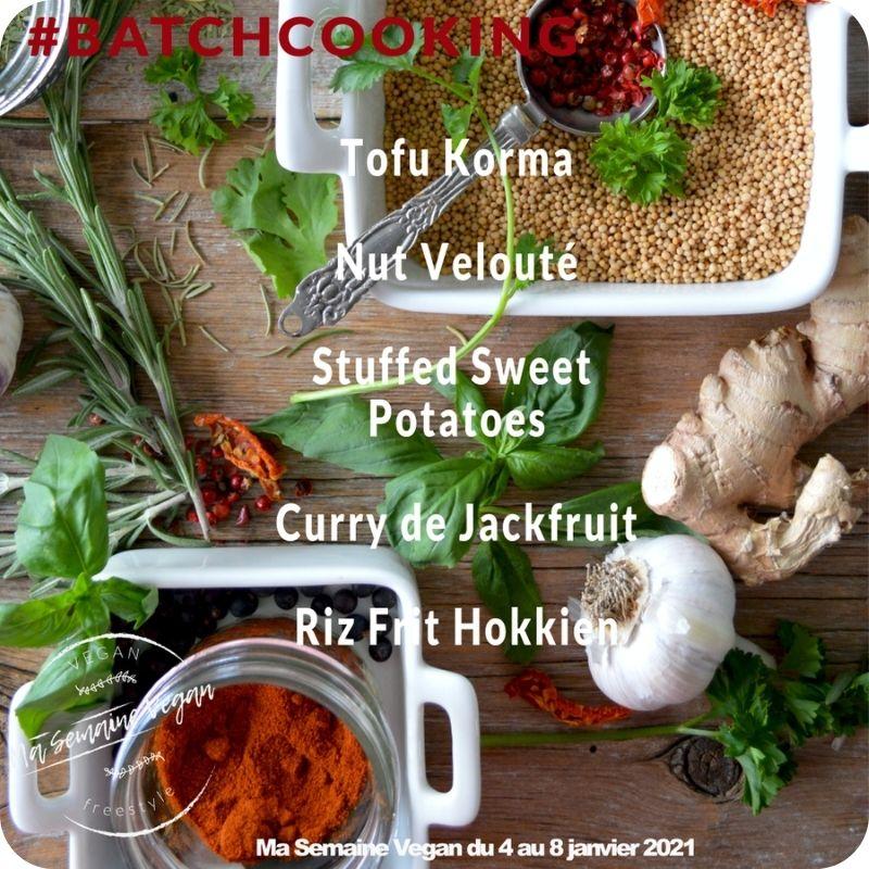 batch cooking vegan