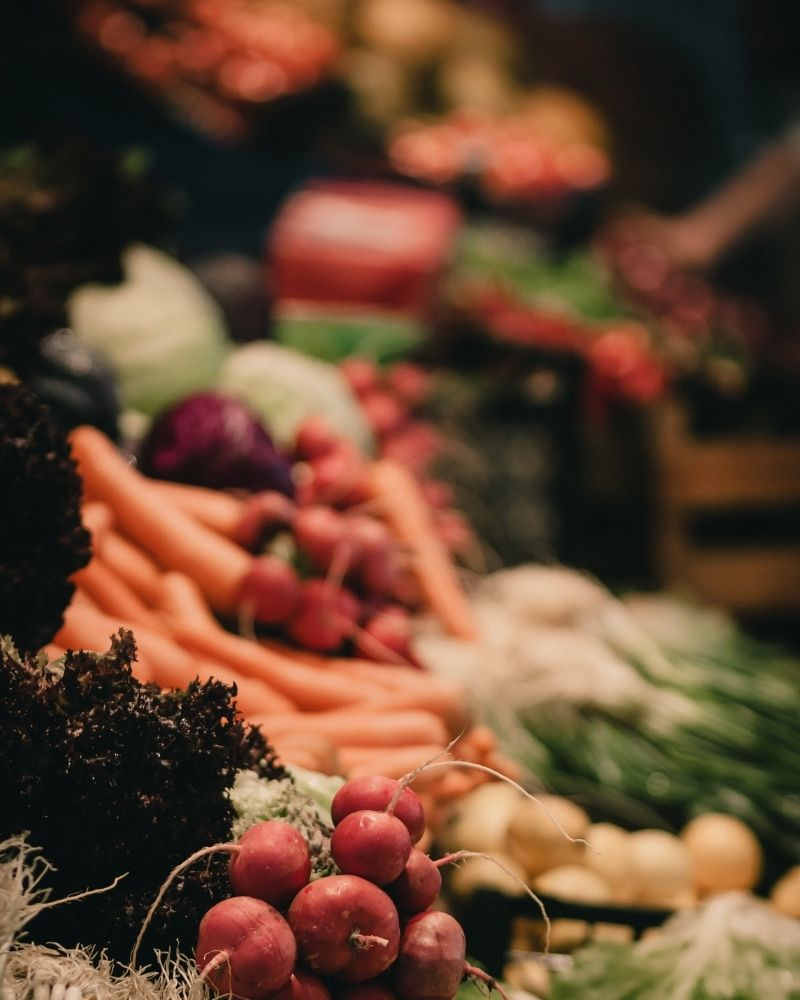 légumes whole food vegan